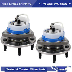 Set Of 2 Front Wheel Bearing And Hub Assembly For Impala Grand Prix 5 Lug W/ Abs