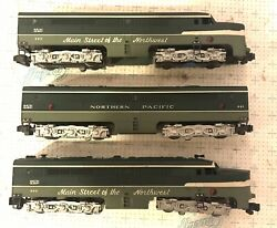 American Flyer S Scale 490 491 493 Np Diesel Locomotive And Dummy Aba Units No Box