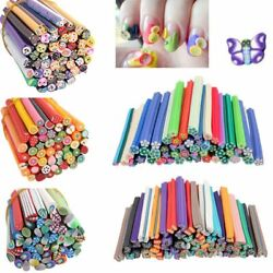 Diy Rods Stick Fimo Canes Nail Art Stickers Mixed Styles Polymer Clay