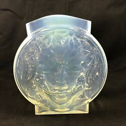 Art Deco Maurice M Model France Face Vase French Opalescent 1930s