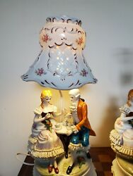 Vintage Victorian Ceramic Lamps And Shade-can Be Sold Separately-1350 Each