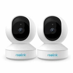 2x Wireless Security Camera Pan/tilt 3mp Hd Plug-in Wifi Night Vision Reolink E1