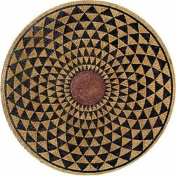 48and039and039 Black Marble Dining Coffee Center Inlay Mosaic Table Top Round