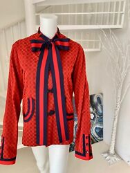 Web Trim And Bow Accent Jacquard Oriental Jacket It 46 Us 10