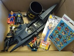 DC Batman Superman Action Figures Vintage Toys Mixed Lot Vehicles