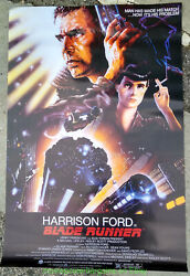 Blade Runner Movie Poster Reprint 27x39 Damaged Condition