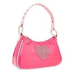 Kawaii Pink Bags PU Leather Shoulder Handbags for Women Sweet Heart Girls Bags $13.82