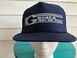 Vintage Usa-made Gamco Concrete Forms And Accessories Snapback Trucker Hat