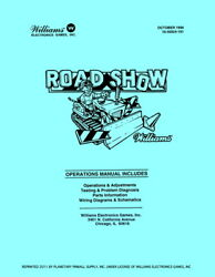 Red/ted Road Show Pinball Operations/repair Manual Roadshow Williams Pps 5c/wd
