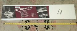 Vintage Big Lord Nelson 28 All Wood 37' Victory Tug Boat Model Kit Nos Sealed