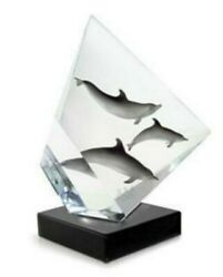 Wyland Faster Higher Stronger Beijing Olympic Lucite Pewter Sculpture Free Book
