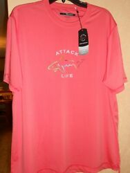 Nwt Mens Greg Norman Attack Life Moisture Wicking Performance Shirt 3 Sizes