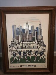 Chicago Bears Soldier Field Alabaster Marble Etched Wall Art