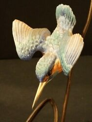 Albany Kingfisher Sculpture Porcelain amp; Bronze Albany England by Burnham Smith