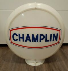Original 1950and039s- Early 60and039s Champlin Gasoline Gas Pump Globe