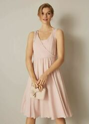 Phase Eight Rosa Bridesmaid Fit And Flare Dress Pale Pink Size Uk14 Rrp130