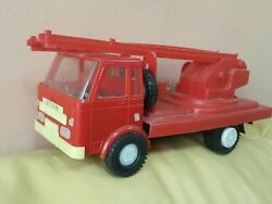 Vintage Fire Truck Star Toy Truck Large Plastic Item Poland Wroclaw Polish Made