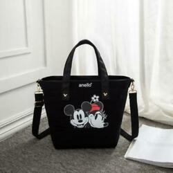 Disney Women#x27;s Canvas Bags Mickey Minnie Shoulder Cartoon Handbags Large Tote $26.38