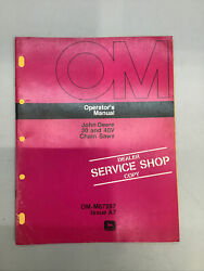 John Deere 30 And 40v Chain Saws Operators Manual Om-m67287 Issue A7