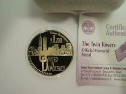 Forever Remembered 9/11/2001 Wtc Twin Towers Ny City / Israel Gold State Medal