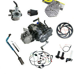 125cc Semi Auto Electric Engine Motor Complete Kit For Xr50 Crf50 Go Kart Atc70