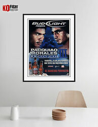 Manny Pacquiao Vs. Eric Morales 3 Pacquiao Signed Budweiser Boxing Poster
