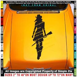 - Cowgirl Walking With Rifle Ride Cowboy Horses Sexy Country Pickup Sticker Deca