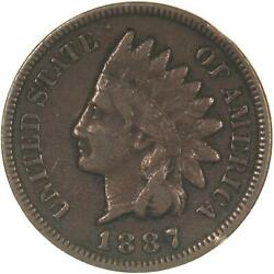 1887 Indian Head Cent Fine Penny Fn