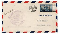 Cam 27e27 Amelia Earhart Flown And Signed Flight Detroit To Cleveland 1929