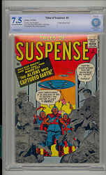 Tales Of Suspense 3 Cbcs 7.5 Vf- Unrestored Atlas Marvel Scarce Cr/ow Pages