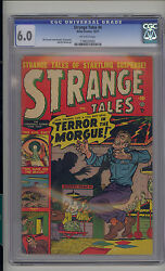 Strange Tales 4 Cgc 6.0 Fn Unrestored Atlas Marvel Scarce Ow Pages