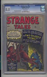 Strange Tales 95 Cgc 8.5 Vf+ Unrestored Atlas Marvel Scarce Ow Pages