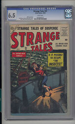 Strange Tales 51 Cgc 6.5 Fn+ Unrestored Atlas Marvel Scarce White Pages