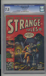 Strange Tales 15 Cgc 7.5 Vf- Unrestored Atlas Marvel Scarce Ow Pages