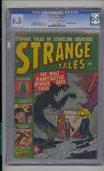 Strange Tales 3 Cgc 6.5 Fn+ Unrestored Atlas Marvel Scarce Cr/ow Pages