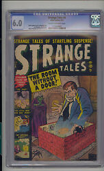Strange Tales 5 Cgc 6.0 Fn Unrestored Atlas Marvel Scarce Cr/ow Pages