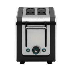 Dualit Stainless Steel Toaster 2 Slice Removable Drip Crumb Tray Wide Slot 1200w