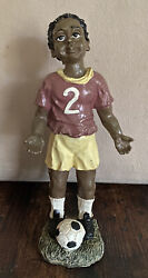 African American Soccer Player Youngandrsquos Collectibles 1994 Black Americana 6andrdquo