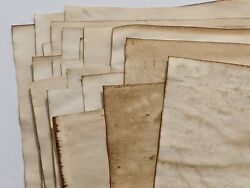 20 Sheets 11x17 Coffee Dyed Stained Paper Junk Journal Scrapbook Paper Craft