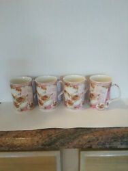 Royal Albert Old Country Roses Afternoon Tea Set Of 4 Coffee/tea China Cups Mugs