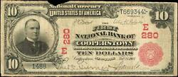 Cooperstown, New York 10 Red Seal Fnb National Currency Baseball Hall Fame Ny