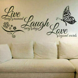 Live Laugh Love Bedroom Decor Pattern Wall Stickers Art Room Removable DIY Decal