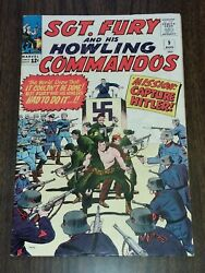 Sgt Fury And His Howling Commandos 9 Fn 6.0 August 1964 Marvel