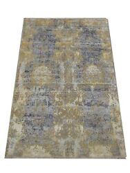 8x10 Modern Oxidized Rug Hand-knotted Wool And Silk Modern Contemporary Carpet