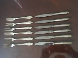 Antique Russian Pure Silver Small Knife And Fork100+ Years