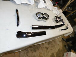 1958 Chevy Impala Fender Extensions Parking Light Bezels Show Quality-rechromed