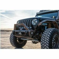Bodyguard 58134t Front Bumper Stubby With Push Bar And End Cap Light Holes New
