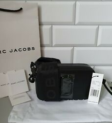 Marc Jacobs Snapshot Small Camera Bag Crossbody Black Leather 100% Genuine NEW $179.00