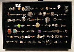 925 Silver Ring Lot 4