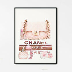 Pink Luxury Fashion Items Wall Deco Art Print On Canvas/ Paper Poster